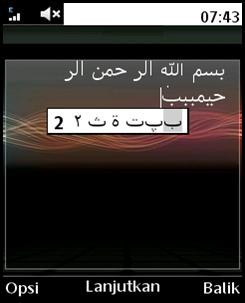 merubah jenis font pada sony ericsson naite dan menambah huruf arab untuk sms